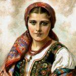Молодая полячка в народном костюме