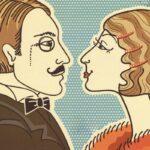 рисунок профили мужчины и женщины