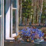 Окно цветы весна