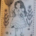 девочка с костылем - рисунок
